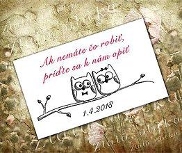 Papiernictvo - Pozvanie ku svadobnému stolu - Sovičky - 8240794_