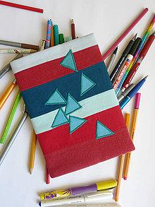 Papiernictvo - Obal na zápisnik - trojuholníky - 8240931_