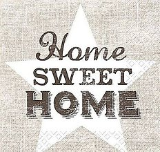Papier - servítka Home sweet home - 8238426_