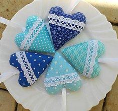 Darčeky pre svadobčanov - Kráľovská modrá a tyrkysová..., svadobné srdiečka - 8238269_