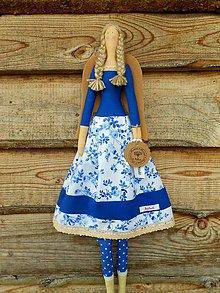 Bábiky - Kráľovská modrá, ... anjelka - 8238442_