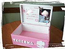 Detské doplnky - Krabica spomienok ružová 2 - 8237878_