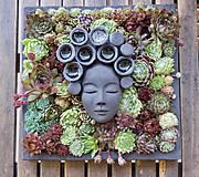Socha - Ruženka - kvetináč ako obraz - 8238839_