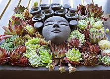 Socha - Ruženka - kvetináč ako obraz - 8238840_