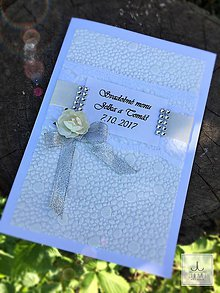 Papiernictvo - Svadobné menu Ivory - 8238634_