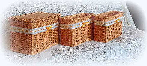 Košíky - Košík oranž - 8238303_
