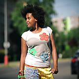 Tričká - Origo tričkoško srdce/kvety - 8240398_