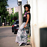 Sukne - Origo sukňa čary mary strojom maxi - 8240511_