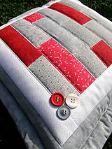 Úžitkový textil - Vankúše - pásy - patchwork - 8240318_