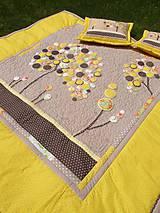 Úžitkový textil - Originálný prehoz s kvetmi No.3 :) - 8240491_