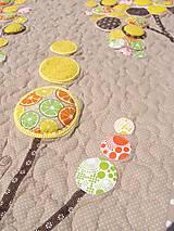 Úžitkový textil - Originálný prehoz s kvetmi No.3 :) - 8240493_