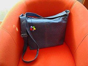 Veľké tašky - Ailia - riflová taška - 8239790_
