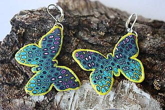 Náušnice - Motýle - 8239016_