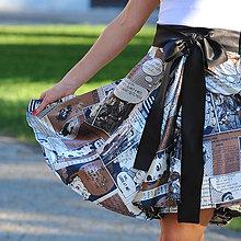Sukne - Komiksová kolesová sukňa, vel. S - L - 8237952_