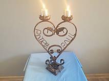 Svietidlá a sviečky - kovový svietnik od 35€ (na objednávku) - 8242592_