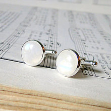 Šperky - Moonstone Cufflinks / Manžetové gombíky s mesačným kameňom /0564 - 8242005_