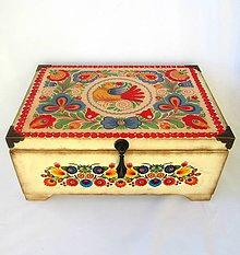 Krabičky - Šperkovnica ornamentová - s venovaním - 8243590_