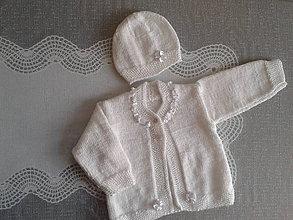 Detské súpravy - Slávnostná súpravička v bielom 1 vhodná na krst - 8243464_