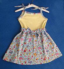 Detské oblečenie - dievčenské šaty na ramienka - 8241124_