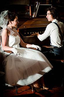 Šaty - Svadobné šaty v retro štýle - 8241138_
