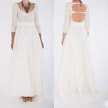 Šaty - Ivory šifónové šaty,,Bonjour broderie,, - 8243192_