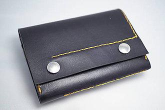 Peňaženky - Kožená peňaženka MontMat-černá - 8241196_