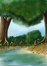 Obrazy - U potoka - 8242988_