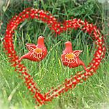 Svadobné vtáčiky - figúrky na svadobnú tortu