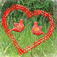 Dekorácie - Svadobné vtáčiky - figúrky na svadobnú tortu - 8243176_
