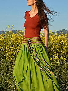 Sukne - Crochet waist skirt - green - 8242444_