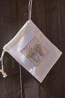 Úžitkový textil - vrecúško na levanduľu 7 - 8241096_