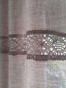 Úžitkový textil - Ľanová záclona Natural Beauty - 8242520_
