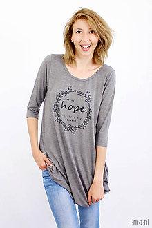 Tričká - Dámske tričko BAMBUS 08 HOPE - 8241635_