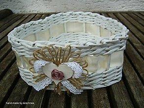 Dekorácie - Košíček srdiečko 20x18x8cm (nostalgický) - 8245234_