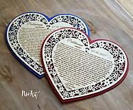 Darčeky pre svadobčanov - Srdiečko Poďakovanie rodičom 26 - 8244520_