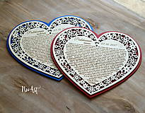 Darčeky pre svadobčanov - Srdiečko Poďakovanie rodičom 26 - 8244521_
