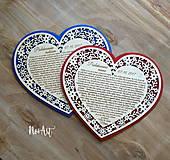 Darčeky pre svadobčanov - Srdiečko Poďakovanie rodičom 26 - 8244524_