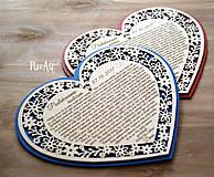 Darčeky pre svadobčanov - Srdiečko Poďakovanie rodičom 26 - 8244525_