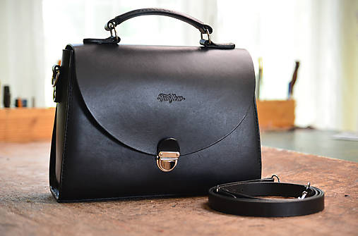Kabelky - Miracle black- kožená kabelka - 8245634_
