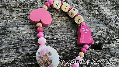 Detské doplnky - Retiazka na cumlík Nina - 8244401_