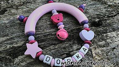 Hračky - Detská hrkálka/hryzátko s menom Dorka - 8244429_