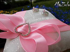 Prstene - Svadobný vankúšik pod obrúčky - 8245444_