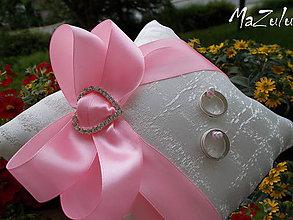 Prstene - Svadobný vankúšik pod obrúčky - 8245445_