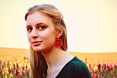 Náušnice - Satin soutache earrings n.1 - sutaškové náušnice - 8243935_