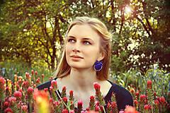 Náušnice - Satin soutache earrings n.2 - sutaškové náušnice - 8243937_
