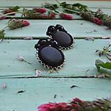 Náušnice - Satin soutache earrings n.3 - sutaškové náušnice - 8243947_