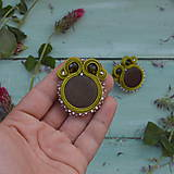 Náušnice - Satin soutache earrings n.4 - sutaškové náušnice - 8243952_