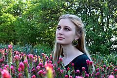 Náušnice - Satin soutache earrings n.4 - sutaškové náušnice - 8243953_