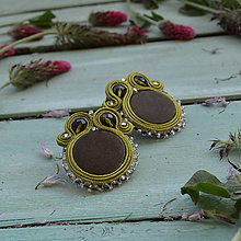 Náušnice - Satin soutache earrings n.4 - sutaškové náušnice - 8243951_