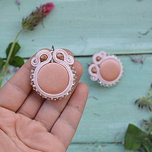 Náušnice - Satin soutache earrings n.8 - sutaškové náušnice - 8243973_